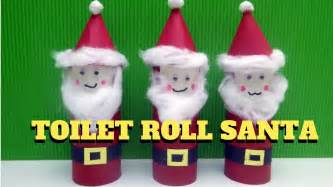 santa claus crafts craft toilet paper roll santa claus toilet