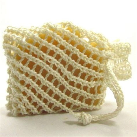 knitted soap holder pattern white cotton soap holder drawstring pouch knit cozy