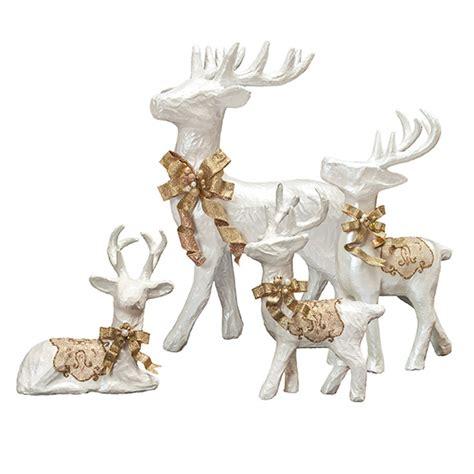 paper mache reindeer craft paper mache reindeer white gold