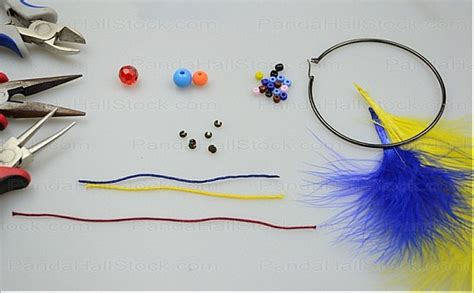 how to make feather earrings with crimp earring how to make feather earrings