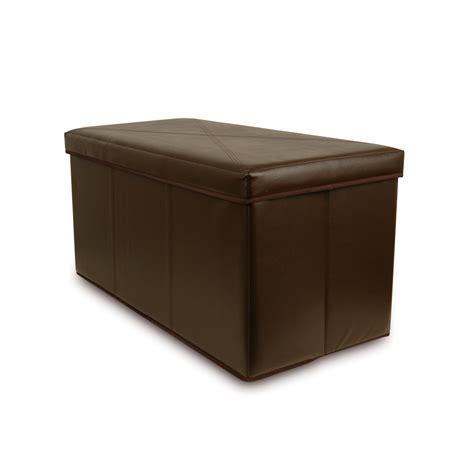 storage ottoman benches collapsible bench storage ottoman hazelnut ebay