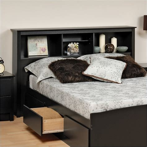 king size bed frame with bookcase headboard king size bookcase storage headboard bsh 8445 prepac