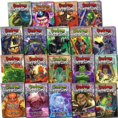 goosebumps books list with pictures goosebumps horrorland series collection r l stine 19 books
