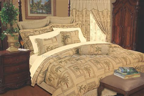 palm tree comforter set 13pc tapestry palm comforter curtain bed in a bag