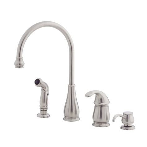 pfister kitchen faucet reviews pfister lg26 4dss treviso single handle kitchen faucet with side spray and soap dispenser
