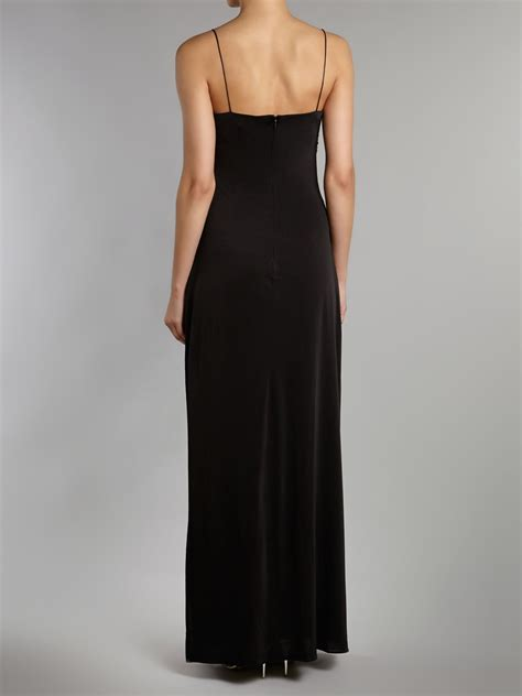 beaded bustier js collections beaded bustier dress in black lyst