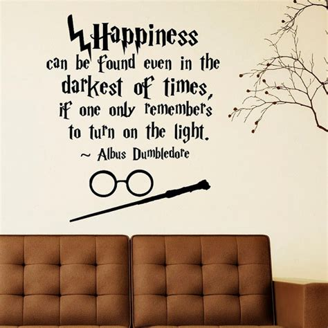 Harry Potter Wall Murals harry potter wall decal quote happiness can be by