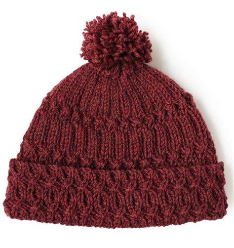 knit wool hat pattern marsala pom pom knit hat pattern allfreeknitting