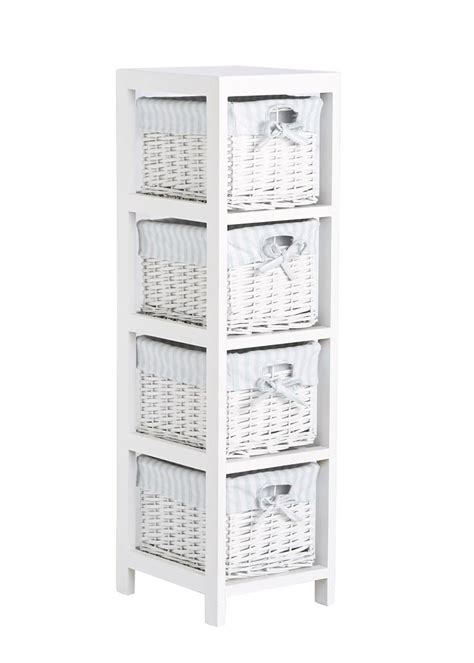 matalan bathroom storage set of 4 split willow drawers 91cm x 25cm x 28cm matalan