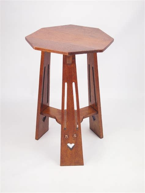 arts and crafts table for antique edwardian arts and crafts oak l table 266469