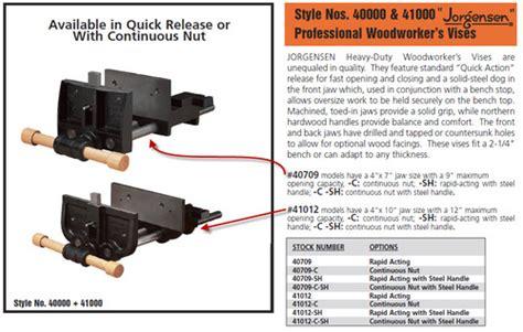 jorgensen 41012 woodworkers vise jorgensen 41012 vise free pdf woodworking