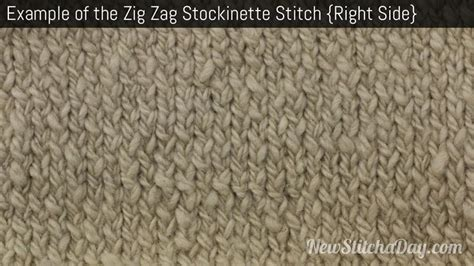 what is the stockinette stitch in knitting the zig zag stockinette stitch knitting stitch 180