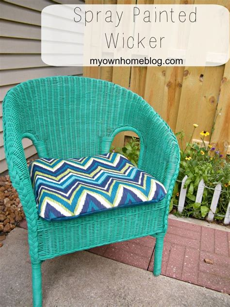 spray painting wicker spray painted 5 wicker chair happy colors how to paint