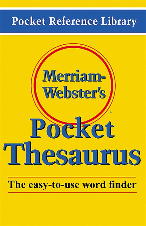 merriam webster s pocket dictionary paperback pocket reference library and edition shop for merriam webster thesauruses