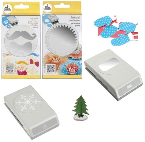 large paper punches for card ek success tools large paper shaper punch scrapbook card
