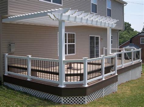 pergolas for decks decks with pergolas deck construction decks r us