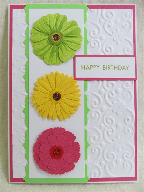 how to make flowers for cards savvy handmade cards zinnia flower happy birthday card