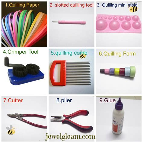 jewelry materials list paper quilling jewellery tutorial basic tools and