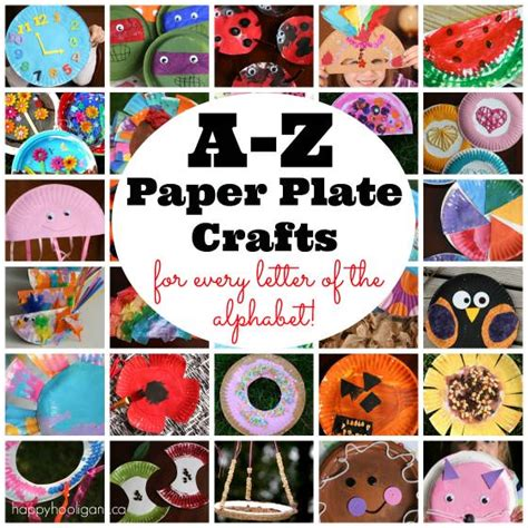 craft of a z paper plate crafts happy hooligans