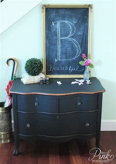 chalk paint black pinkpostcard curvy black dresser noble vintage home