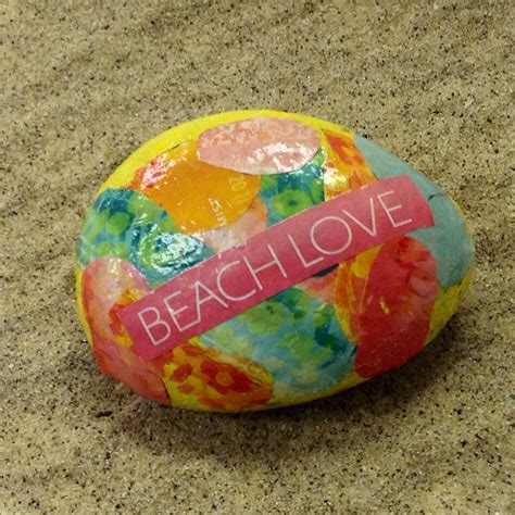 decoupage craft decoupage rock family crafts