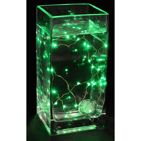 20 strand lights fully submersible battery 20 led light strand green