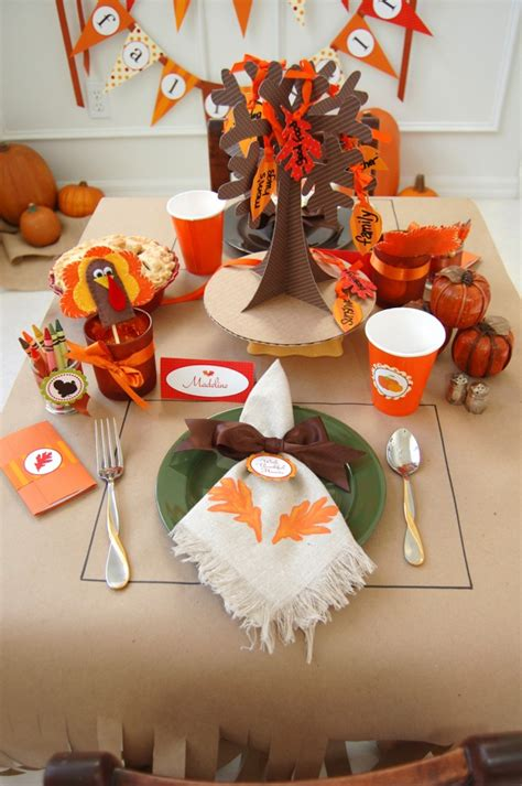 thanksgiving table crafts for thanksgiving table decoration crafts for photograph 1