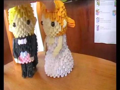 3d origami and groom and groom 3d origami