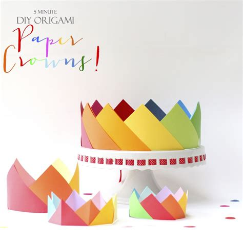 origami hats you can wear simple origami crowns