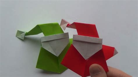 santa origami how to make an origami santa claus curious