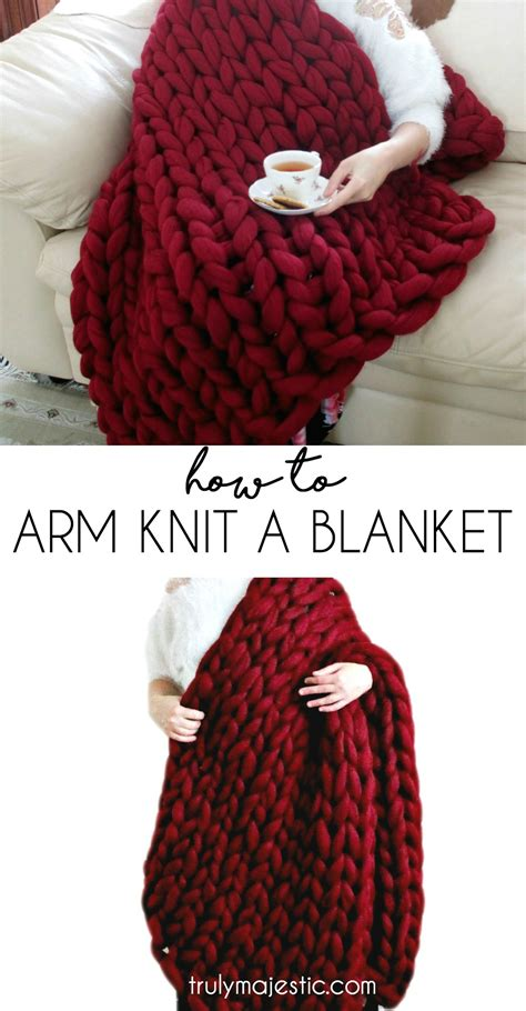 how to arm knit blanket how to arm knit a blanket
