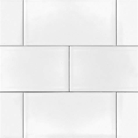 ice white 3x6 glossy subway tile 3x6 box of 10 square feet eclectic wall and floor tile