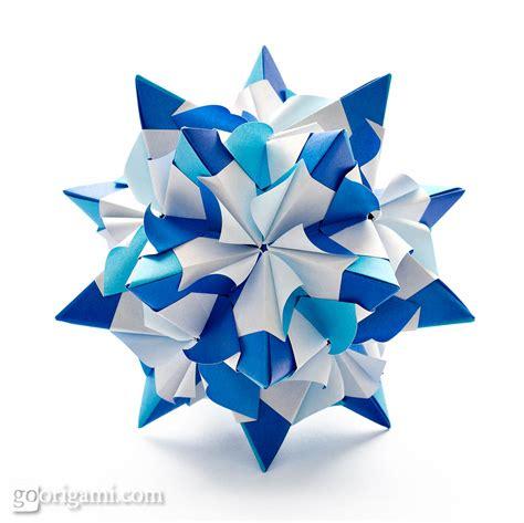 www origami chandelle kusudama by sinayskaya diagram go origami