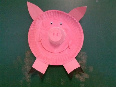 pig paper plate craft paper plate pig birthday decor