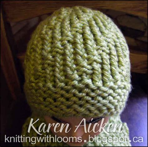 loom knitting hat brim knitting with looms montery lime hats