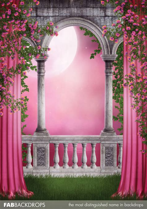 Enchanted Forest Wall Stickers enchanted castle photo background princess backdrop