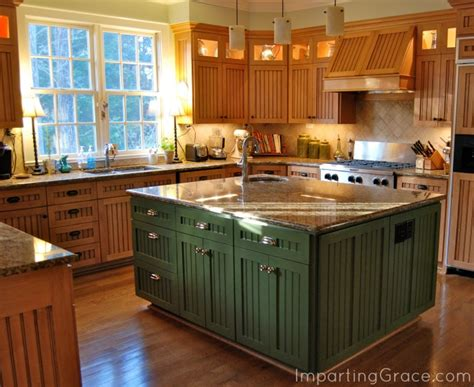 paint kitchen island imparting grace changes in my kitchen