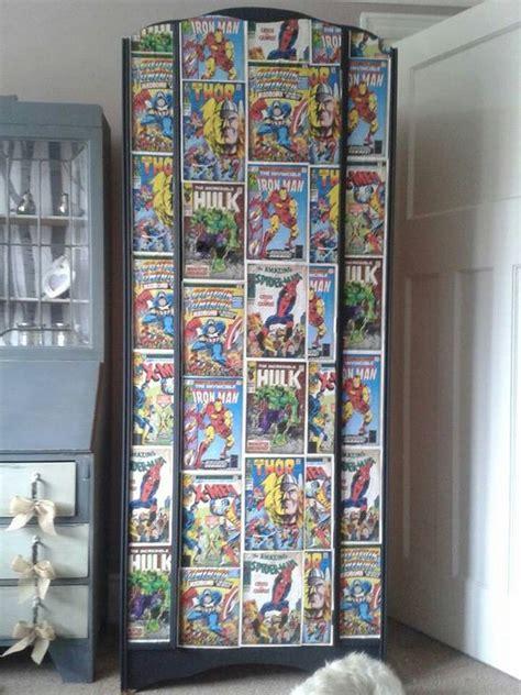 decoupage wardrobe boys wardrobe with comic decoupage comic book bathroom