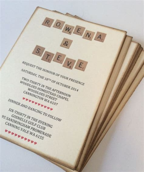 scrabble invitations 1000 ideas about scrabble wedding on ring