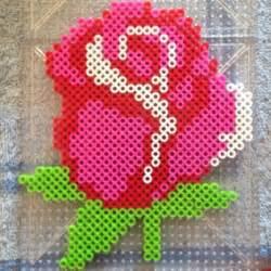 perler bead flower patterns 38 best perler bead flowers images on perler