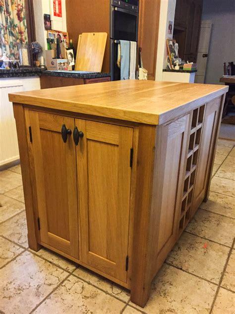 kitchen islands oak kitchen island unit made from solid oak