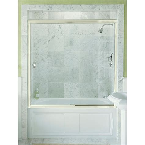 shower doors home depot kohler devonshire bypass shower door in bright silver
