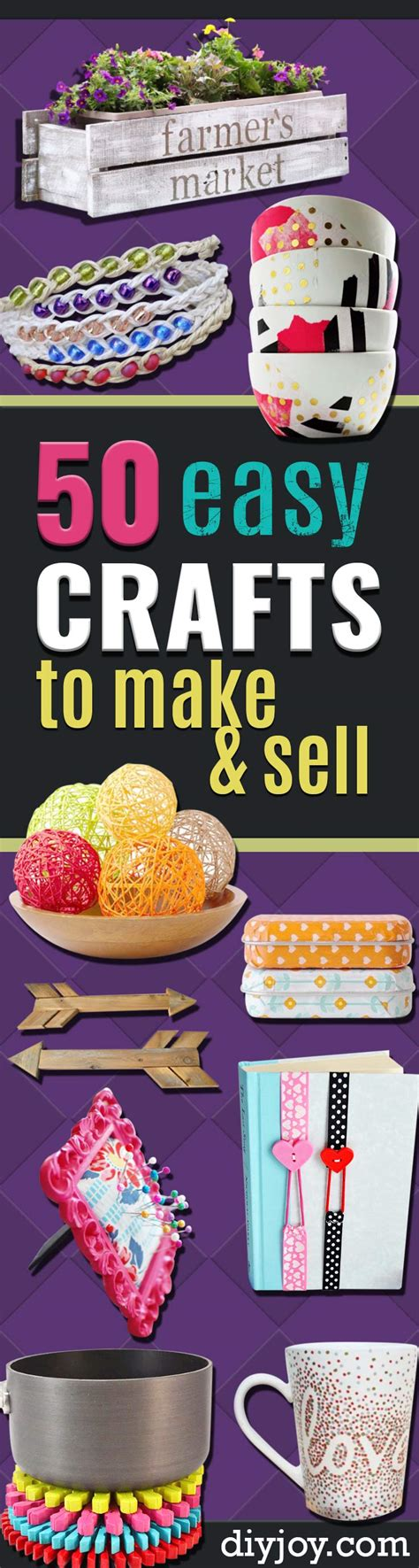 easy craft ideas for to sell 50 easy crafts to make and sell crafts craft