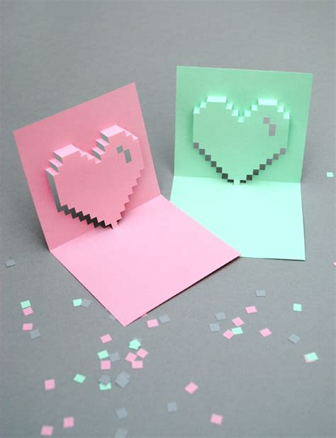 how to make a pixel pop up card mini eco s pixel pop up s cards the smallest