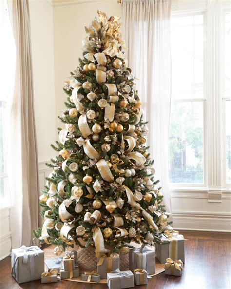 gold and tree silver and gold tree tree decorating