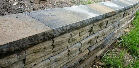 garden wall toppers how to build a stackable block retaining wall today s