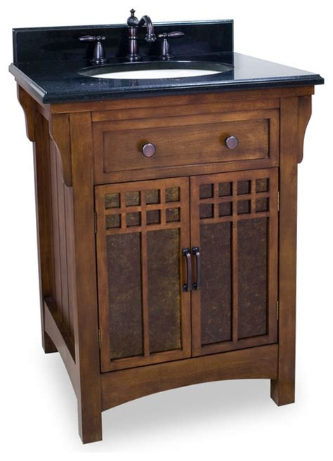 craftsman bathroom vanities lyn design van037 t wood vanity black granite top