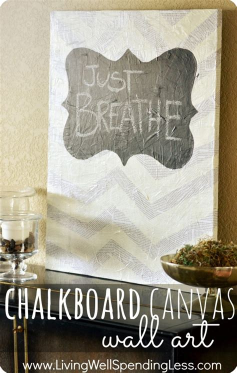 chalk paint on canvas chalkboard canvas wall living well spending less 174