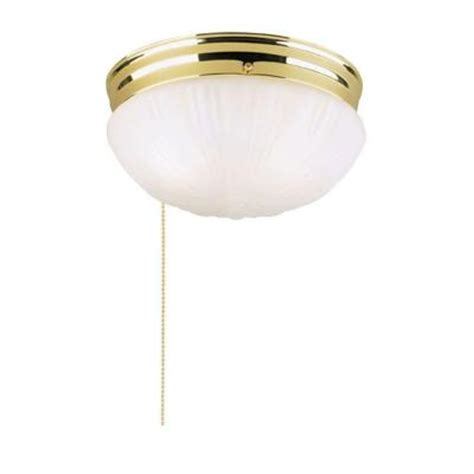 pull chain light fixture home depot westinghouse 2 light ceiling fixture polished brass