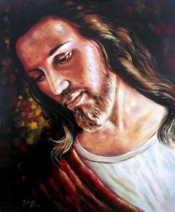 acrylic painting of jesus portraits from photographs the brandywine school student